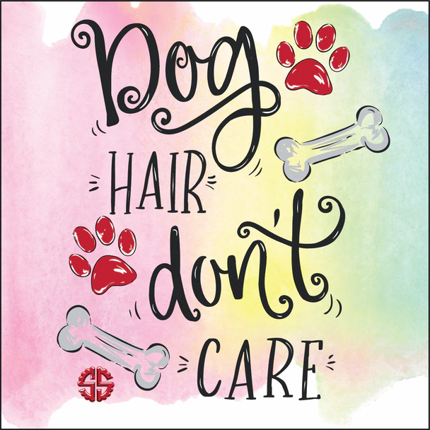 Simply Southern Coaster w/ Easel: 'Dog Hair Don't Care'