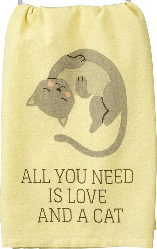 Kitchen Towel: 'All you need is love and Cat'