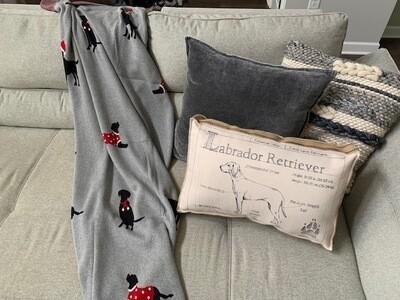 Christmas Black Labradors Blanket
