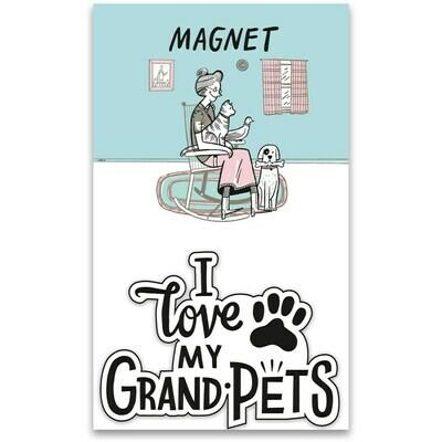 'Love my GrandPets' Magnet w/Card