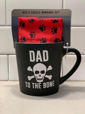 Dog Dad Mug & Bandana Set
