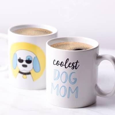 'Coolest Dog Mom' Mug Set
