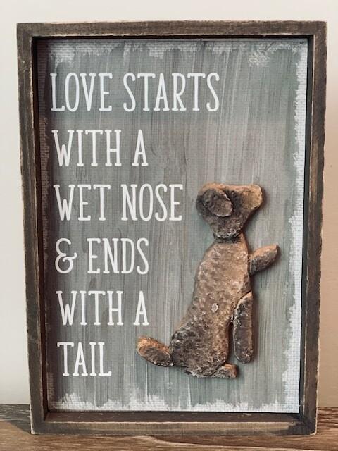 Unique Dog & Cat Pebble & Wood Signs