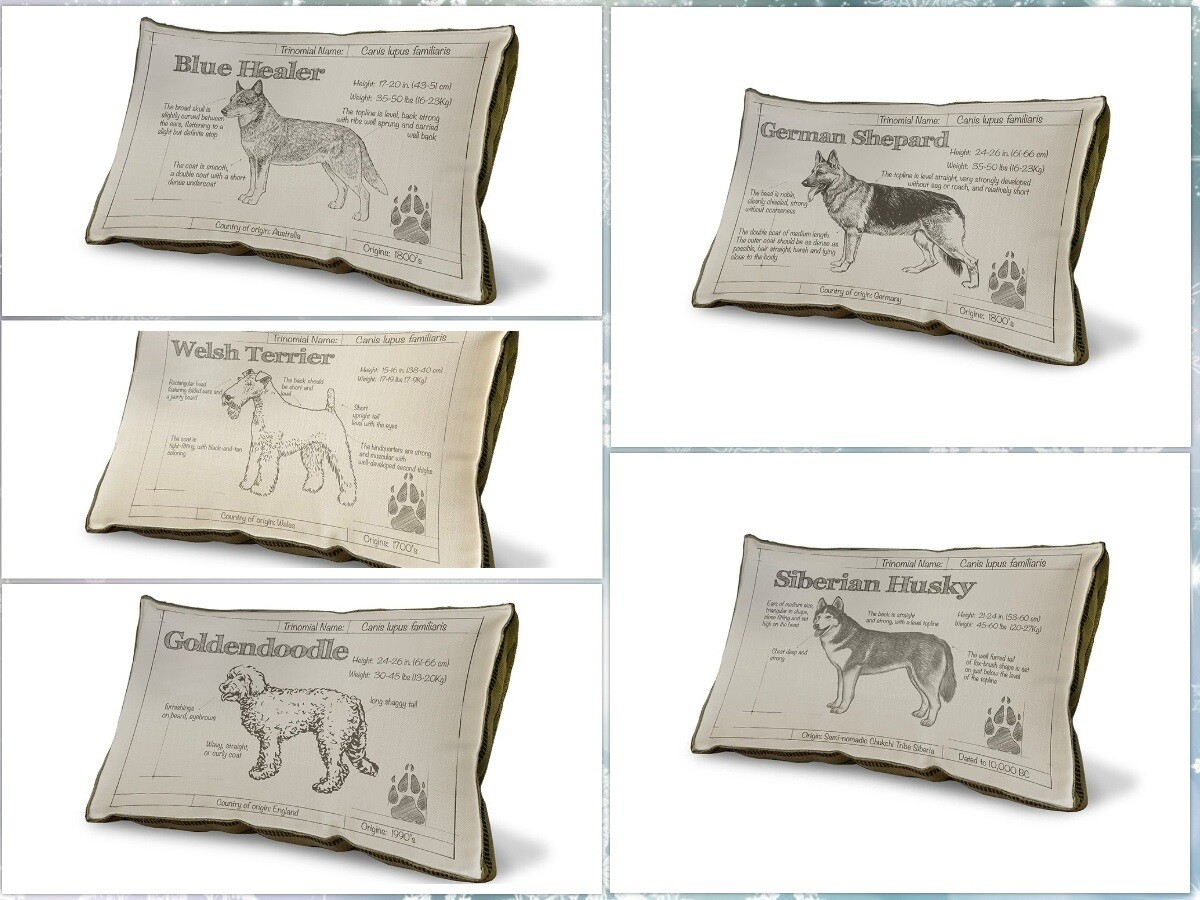 Made-to-Order Dog Breed Pillow