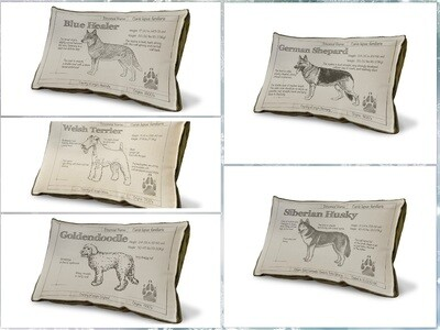 Made-to-Order Custom Dog Breed Pillow