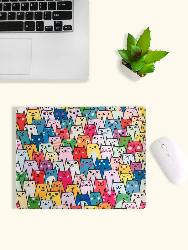 Multi-colored Cats Mousepad