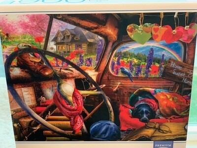 1000 pcs Puzzle: 'Dog & Home Sweet Home'