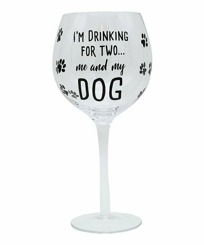 Wine Glass: 'Me and My Dog'