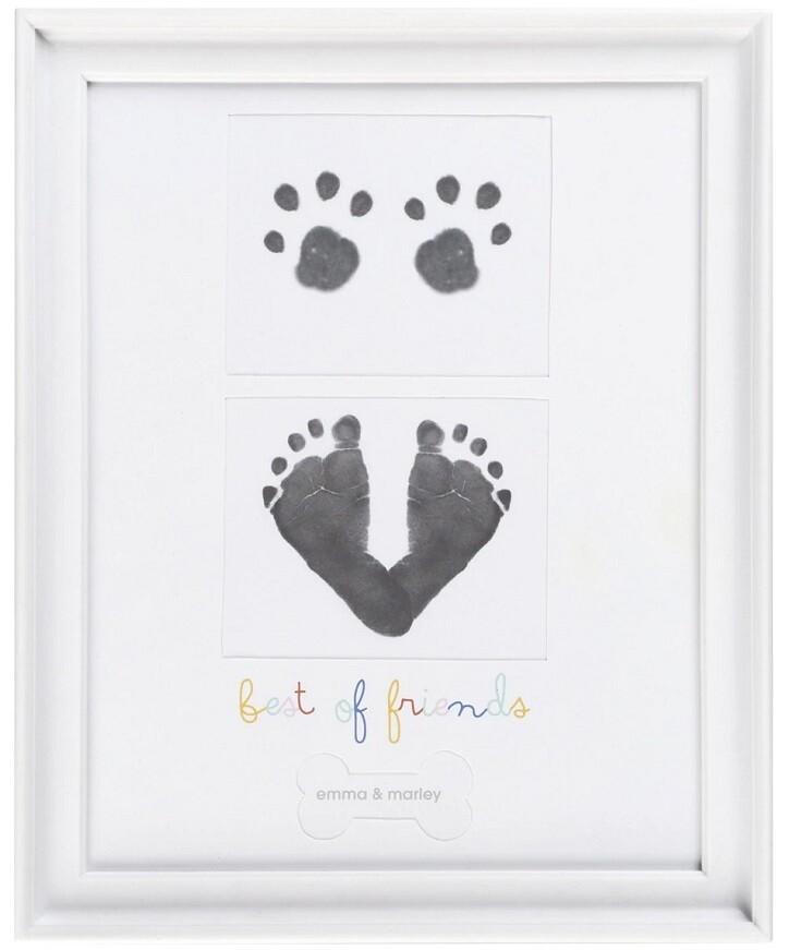 Baby & Puppy Prints Frame