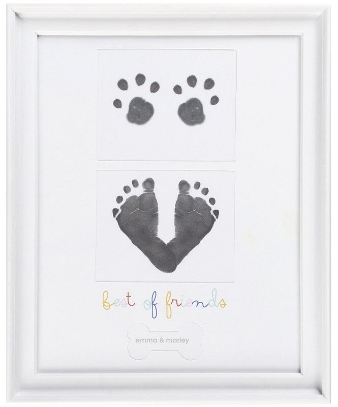 Baby & Puppy Prints Frame