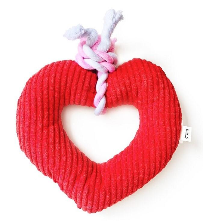 Heart Rope Pet Toy: ED Ellen Degeneres
