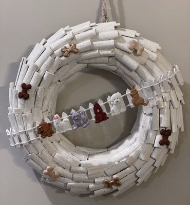One-of-a-Kind Winter Dogs Wreath