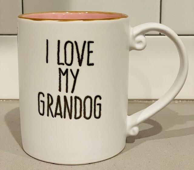 'I Love My Grandog' Mug