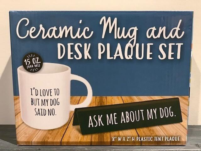 Ceramic Mug & Desk Plaque Set