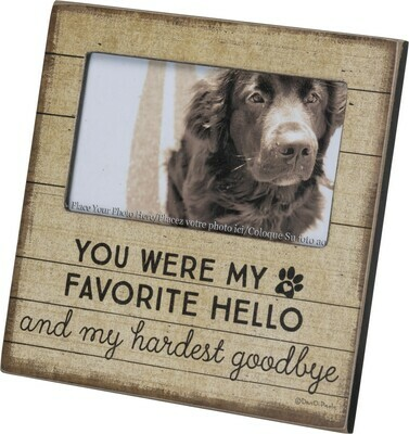 Wood Frame: 'You Were My Favorite Hello, Hardest Goodbye'