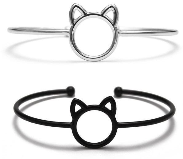 Cat Face Adjustable Bracelet (2 colors)