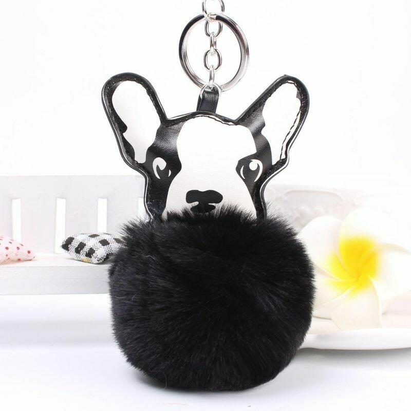 Puppy w/Fluffball Keychain