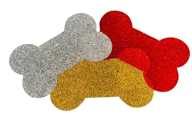 Glitter 'Bone-Shaped' Pet Mat