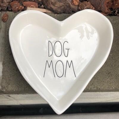 Rae Dunn 'Dog Mom' Heart Ceramic Dish