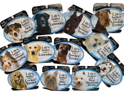 'Life's Better' With (Your Dog Breed) Magnets