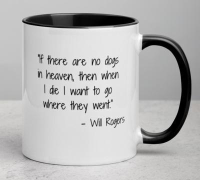 Custom Mug: 'Dogs in Heaven' Mug (4 colors!)