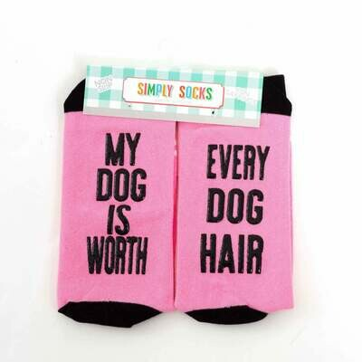 Simply Southern Non-Slip Socks: 'Dog Worth Every Hair...'