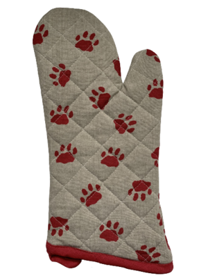 Rustic Red Paws Oven Mitt