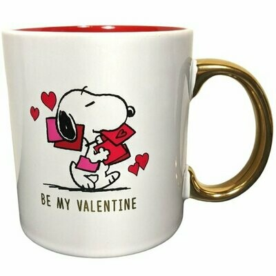 Snoopy 'Be My Valentine' Mug w/Gold Handle