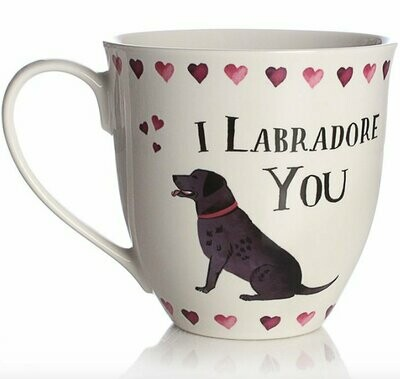 British Labrador Mug: 'I Labradore You'