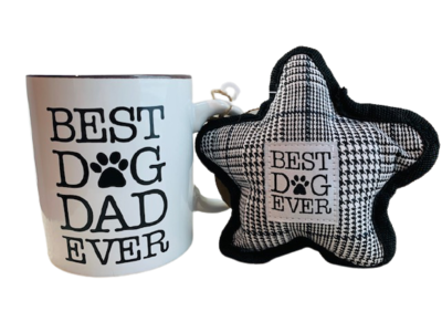 Mug & Dog Toy Set: 'Best Dog Dad Ever'