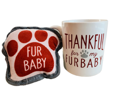 'Thankful for my Furbaby' Mug & Dog Toy Set