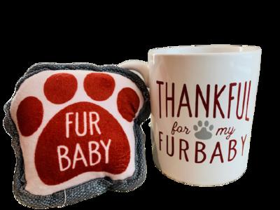 Mug & Dog Toy Set: 'Thankful for my Furbaby'