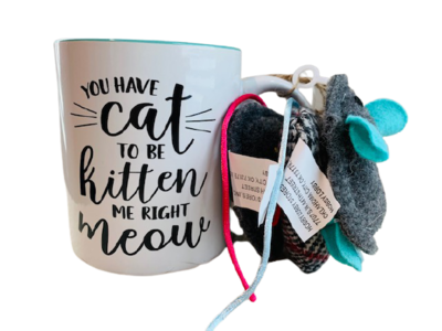 'You Have to be Kitten Me Right Now' Mug w/ 3 Cat Toys