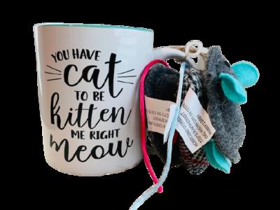 Mug Set with 3 Cat Toys