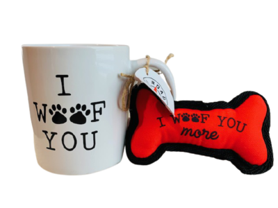'I Woof You' Mug & Dog Toy Set