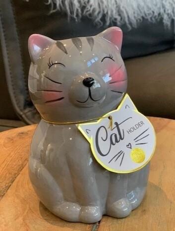Ceramic Cat Pen & Pencil Holder
