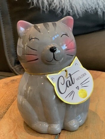 Ceramic Cat Pen & Pencil Holder