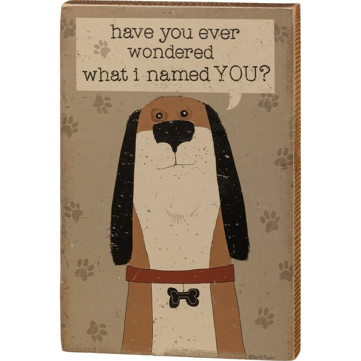 Ever Wonder What I Named You Wood Box Sign