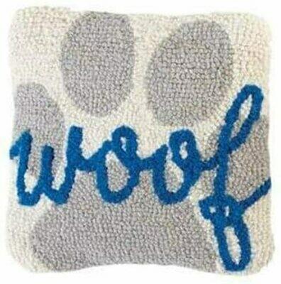 Mud Pie Woof & Paw Mini Hook Pillow
