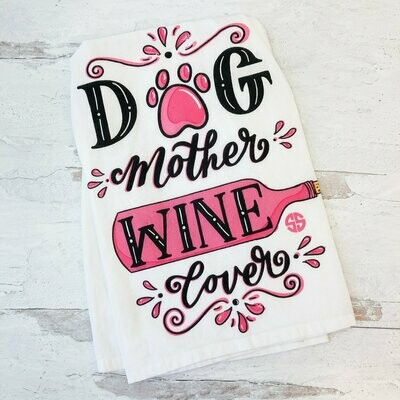 Simply Southern 'Dog Mother, Wine Lover' Kitchen Towel