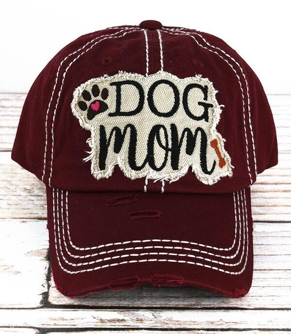 'Dog Mom' Embroidered Baseball Cap (3 colors!)