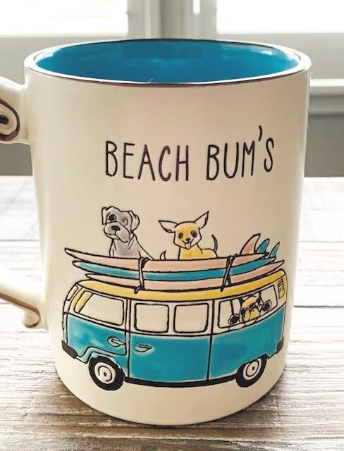Surfing Beach Bum Dogs Mug