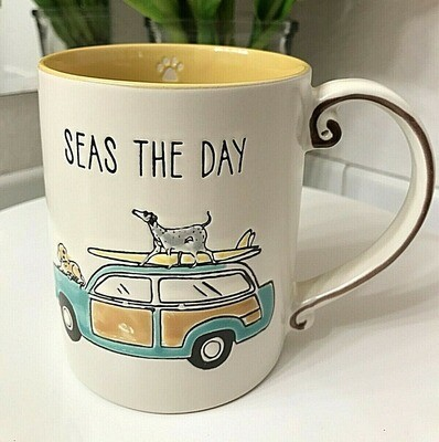 'Seas The Day' Beach Dogs Mug