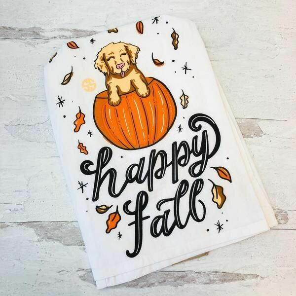 Simply Southern 'Happy Fall' Kitchen Towel