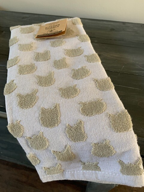 2-Pack 100% Egyptian Cotton Cat Kitchen Towel Set