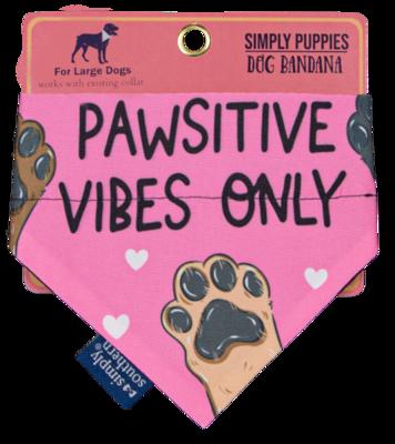 Simply Southern Dog Bandana: 'Pawsitive Vibes'