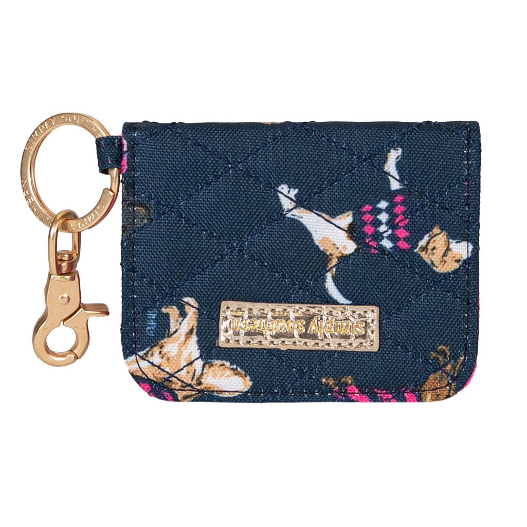 Simply Southern Quilted Dog Print ID Wallet