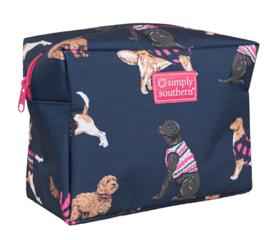 Simply Southern Dogs Print Cosmetic Bag