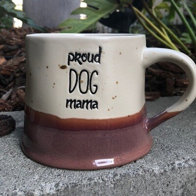 Speckled Farmhouse Mug: 'Proud Dog Mama'