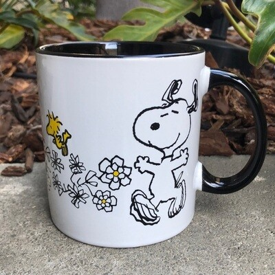 Snoopy & Woodstock Fun in the Flowers